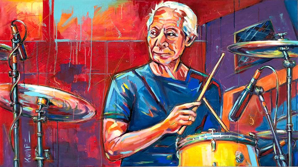 Charlie Watts Acryl auf Leinwand 90 x 160 cm